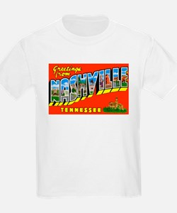 Nashville Tennessee Greetings (Front) T-Shirt