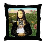 Mona / M Schnauzer Throw Pillow