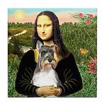 Mona / M Schnauzer Tile Coaster