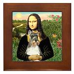 Mona / M Schnauzer Framed Tile
