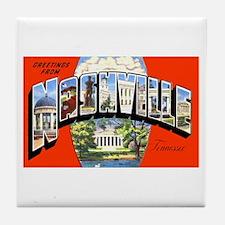 Nashville Tennessee Greetings Tile Coaster