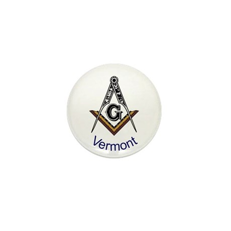 Vermont Square and Compass Mini Button (10 pack)