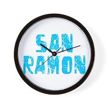 San Ramon Faded (Blue) Wall Clock