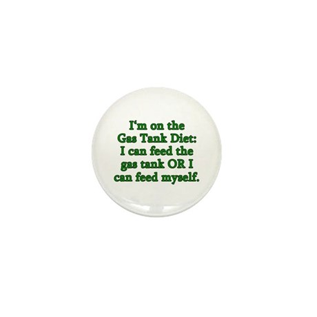 Gas Tank Diet Mini Button (100 pack)