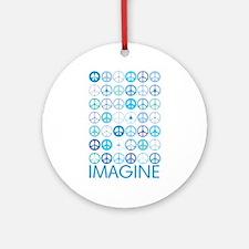 Imagine Peace Signs Ornament (Round)