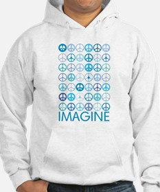 Imagine Peace Signs Jumper Hoody