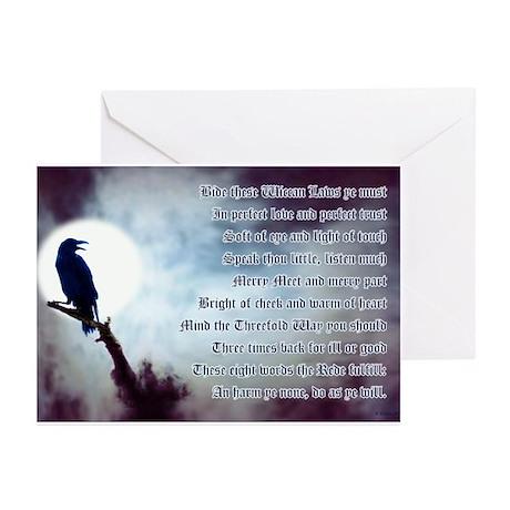 Ravens Rede Greeting Cards