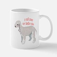 Bedlington terrier belly rubs Mug