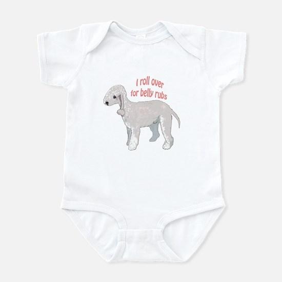 Bedlington terrier belly rubs Infant Bodysuit