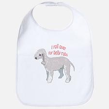 Bedlington terrier belly rubs Bib