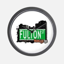 FULTON ST, BROOKLYN, NYC Wall Clock
