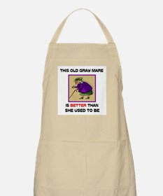 YOUNG GRAY MARE BBQ Apron