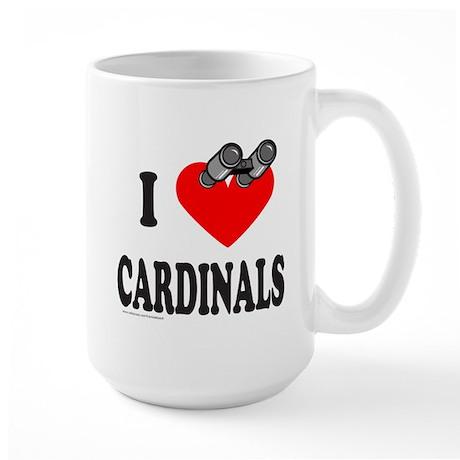 I HEART CARDINALS Large Mug