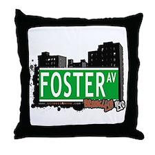 FOSTER AV, BROOKLYN, NYC Throw Pillow