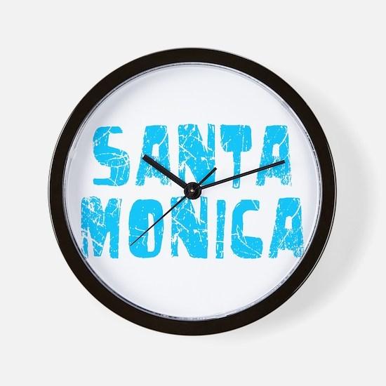 Santa Monica Faded (Blue) Wall Clock