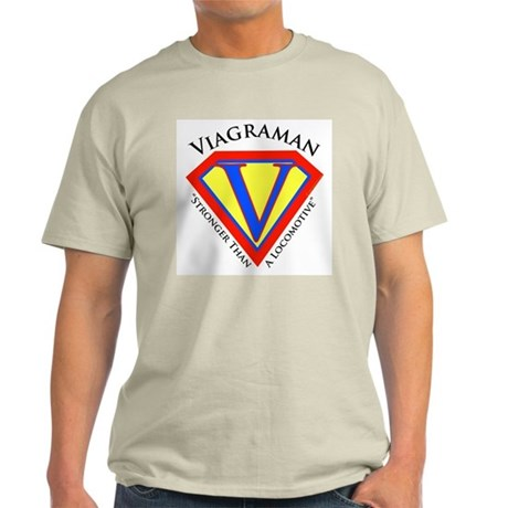 Viagraman Ash Grey T-Shirt