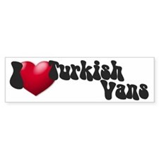 'I Love TurkVans!' Bumper Car Sticker