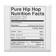 Hip Hop Nutrition Facts Tile Coaster