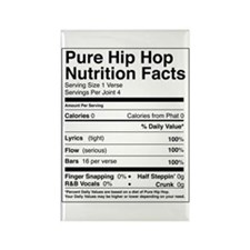 Hip Hop Nutrition Facts Rectangle Magnet