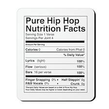 Hip Hop Nutrition Facts Mousepad