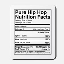 Hip Hop Nutrition Facts Mousepad