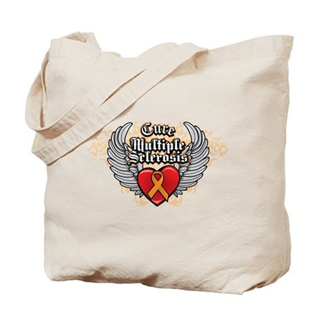 MS Heart and WIngs Tote Bag