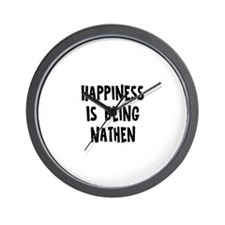 Happiness is being Nathen Wall Clock