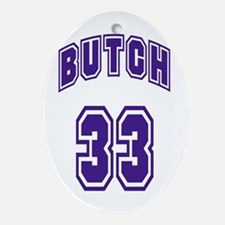 Butch 33 Oval Ornament