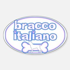 Powderpuff Bracco Italiano Oval Decal