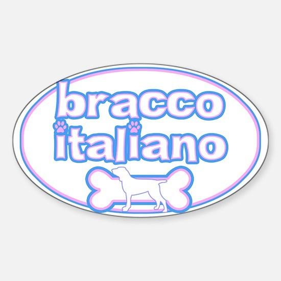 Powderpuff Bracco Italiano Oval Decal