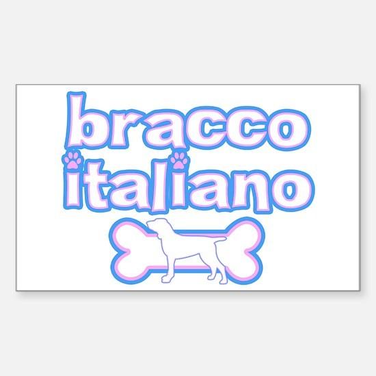 Powderpuff Bracco Italiano Rectangle Decal