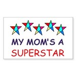 SUPERSTAR MOM Rectangle Sticker 50 pk)