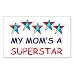 SUPERSTAR MOM Rectangle Sticker 10 pk)