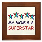 SUPERSTAR MOM Framed Tile