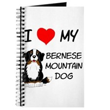 I Love Heart Bernese Dog Journal