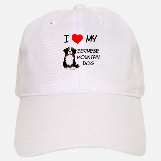 I Love Heart Bernese Dog Baseball Baseball Cap