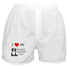 I Love Heart Bernese Dog Boxer Shorts