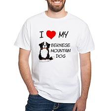 I Love Heart Bernese Dog Shirt