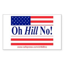 Oh Hill No! Rectangle Decal