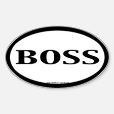 """Boss"" B&W Oval Decal"