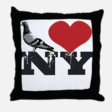 NY Pigeon Throw Pillow