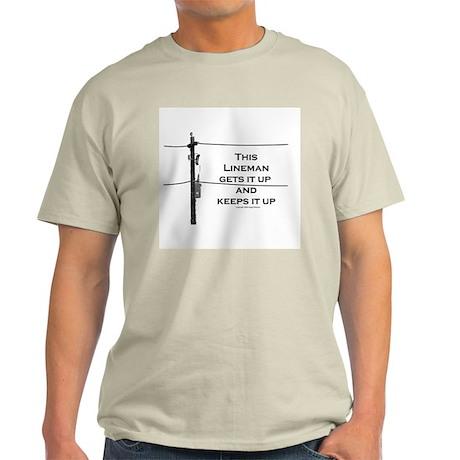 Humorous Lineman Light T-Shirt