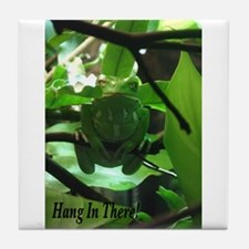 Hang in There! Tile Coaster