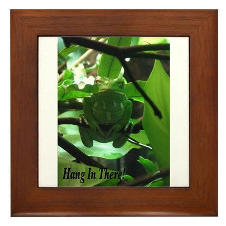 Hang in There! Framed Tile