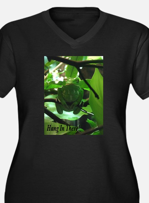 Hang in There! Women's Plus Size V-Neck Dark T-Shi
