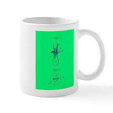 PACIFIER BLUE GREEN Mug