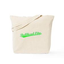 Retro Bullhead City (Green) Tote Bag