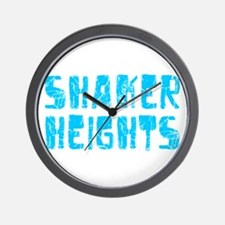 Shaker Heights Faded (Blue) Wall Clock
