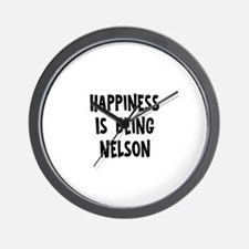 Happiness is being Nelson Wall Clock