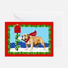 Christmas Bulldog Mail Greeting Cards (Pk of 20)